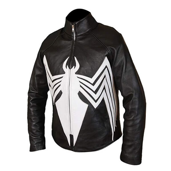 Eddie Brock Venom Black Leather Jacket