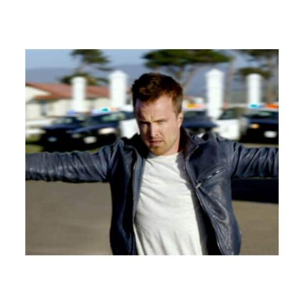 Aaron Paul Black Leather Jacket From Need For Speed Movie