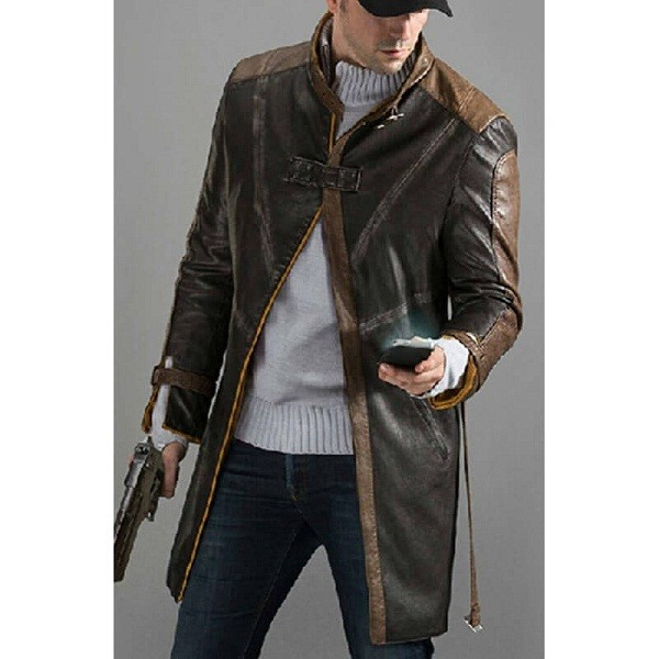 Aiden Pearce Watch Dogs Trench Leather Coat