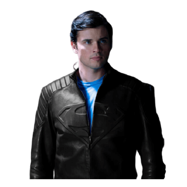 Basic Black Superman Leather Jacket