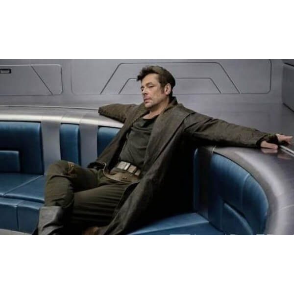 Benicio Del Toro Leather Trench Coat From Star Wars