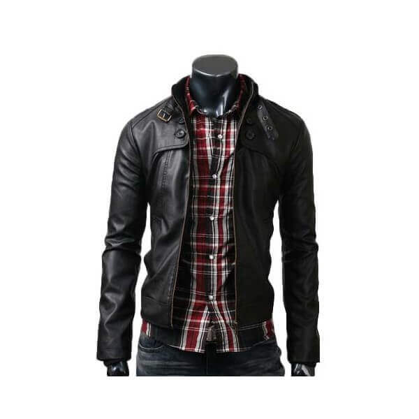 Best Men Black Button Pocket Jacket