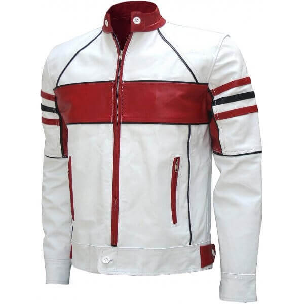 Best Selling Men's Leather Biker Jacket Dual Color