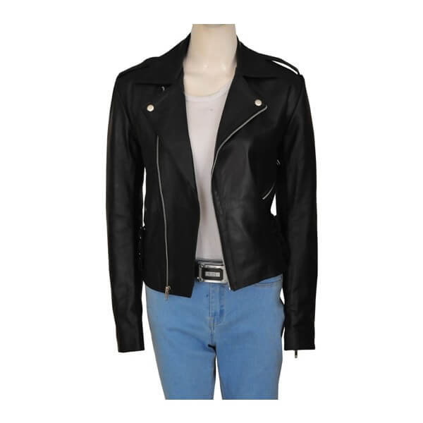 Biker Style Black Kim Kardashian Leather Jacket