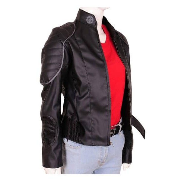 Black Halle Berry Leather Jacket from X-men: The Last Stand