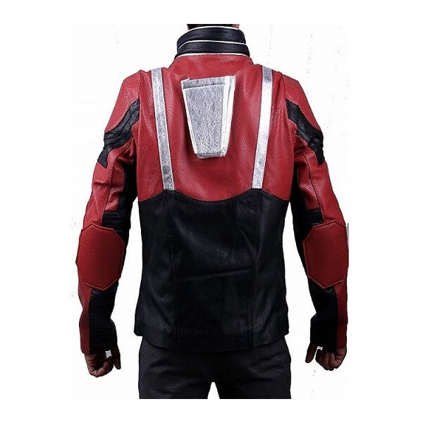 Black & Red Ant Man Leather Jacket Avengers Endgame