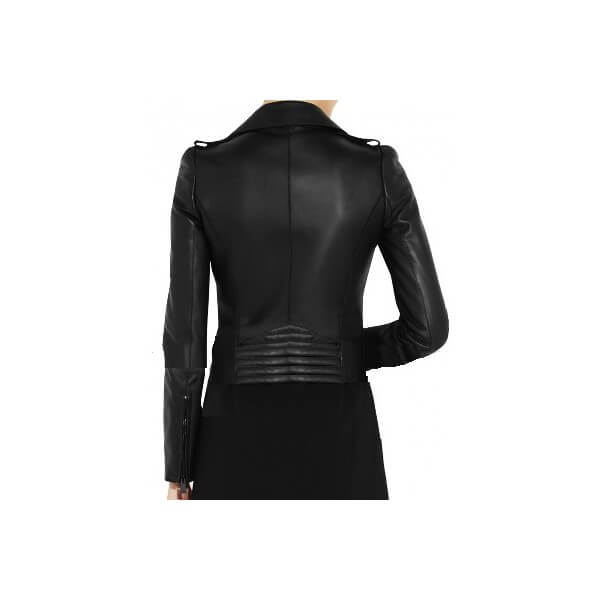 Black Valentino Kim Kardashian Biker Leather Jacket