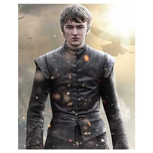 Bran Stark String Tied Leather Vest from Game of Thrones