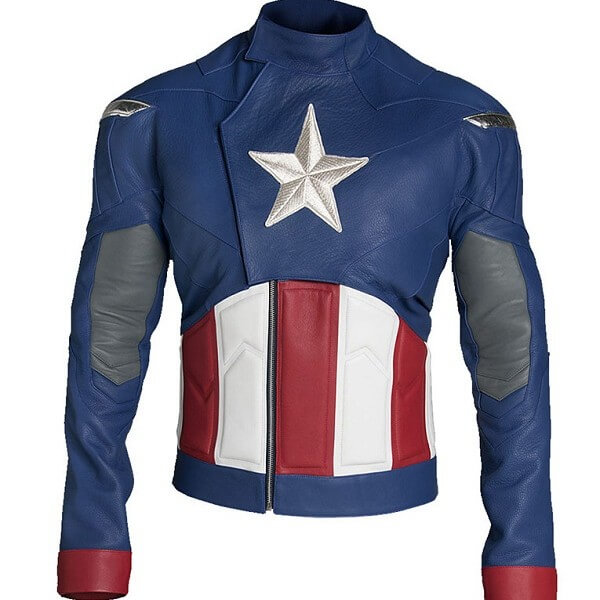 Captain America Leather Jacket Avengers Endgame
