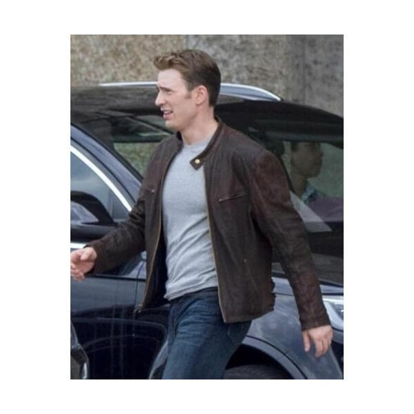 Captain America Leather Jacket From Civil War TV Series