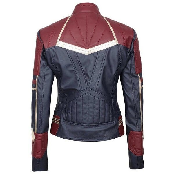 Captain Marvel Stylish Leather Jacket