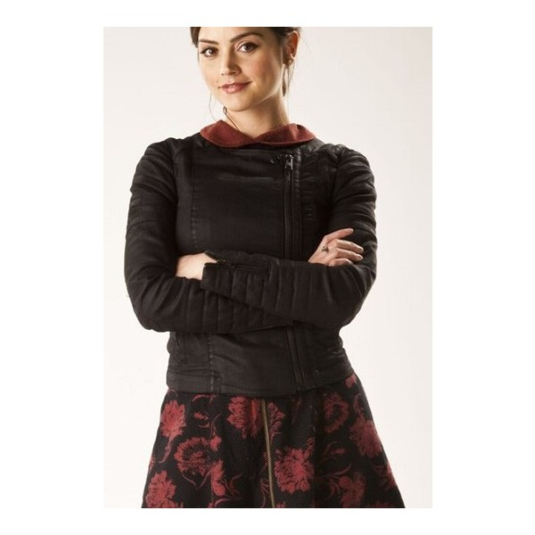 Clara Oswald Black Quilted Leather Jacket from Doctor Who