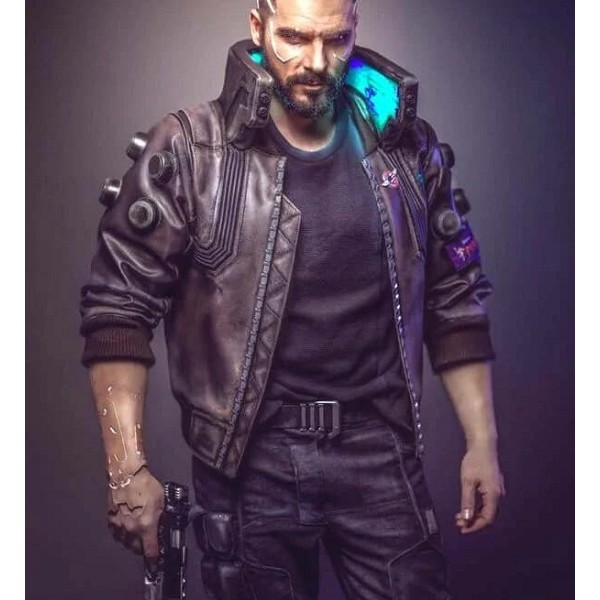 Cyberpunk 2077 V Samurai Leather Jacket