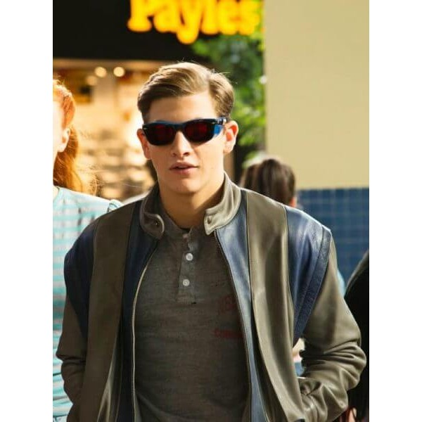 Cyclops Blue & Gray Leather Jacket from X-men Apocalypse