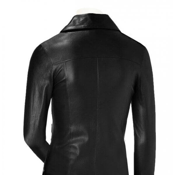 Designer Style Ladies Leather Biker Jacket