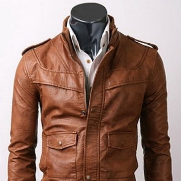 Best Slim Fit Light Brown Leather Jacket