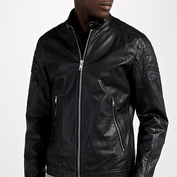 Replica Design LC Diesel L-Monike Black Leather Jacket