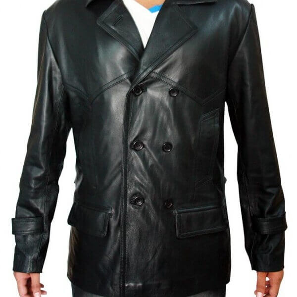 Doctor Who TV Series - German Black Christopher Eccleston Leather Coat Jacket