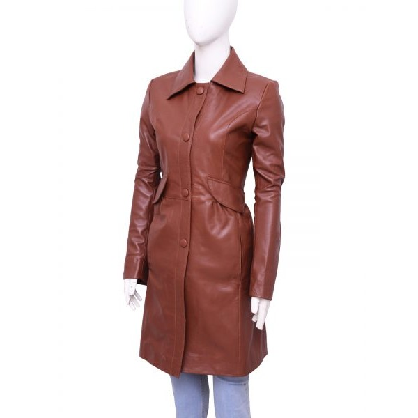 Donna Noble Brown Leather Coat From Doctor Who