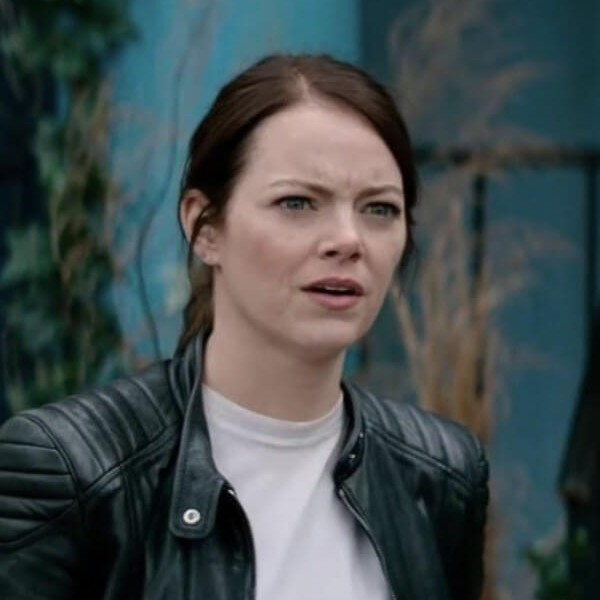 Zombieland Double Tap Emma Stone Padded Leather Jacket