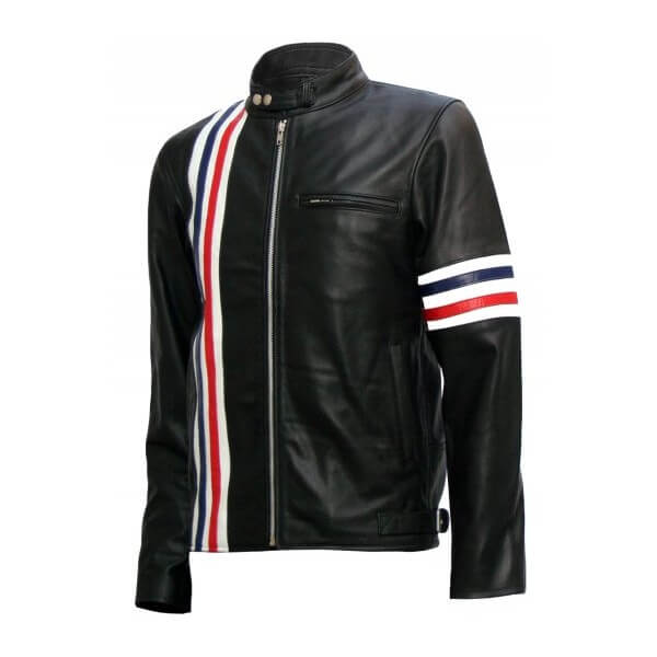 Easy Rider Captain America Black Biker Leather Jacket