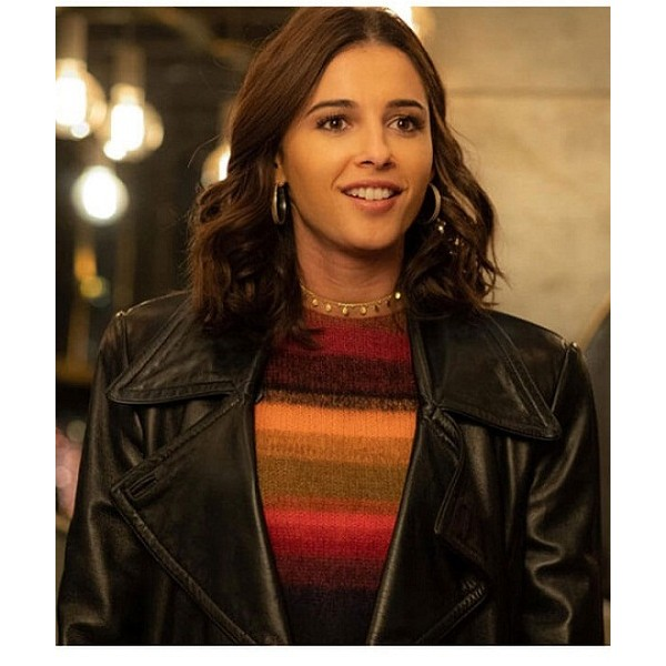 Elena Houghlin Charlie's Angels Black Leather Jacket