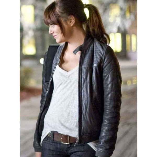 Emma Stone (Wichita) Leather Jacket from Zombieland