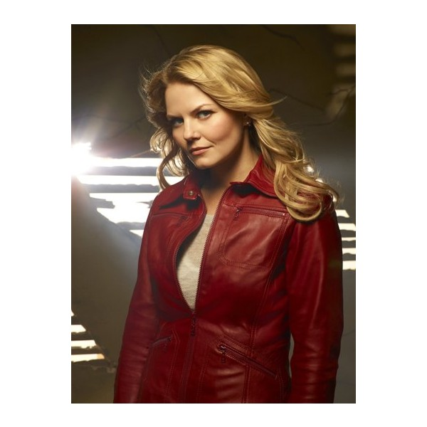 Emma Swan Red Leather Jacket From Once Upon A Time TV Series