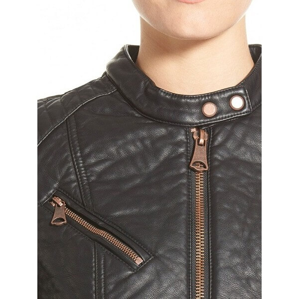 LC Faux Leather Moto Jacket