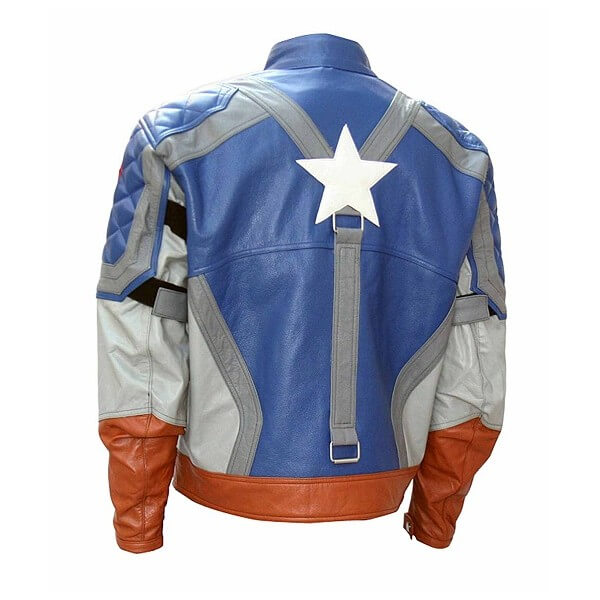 First Actual Captain America Costume Leather Jacket
