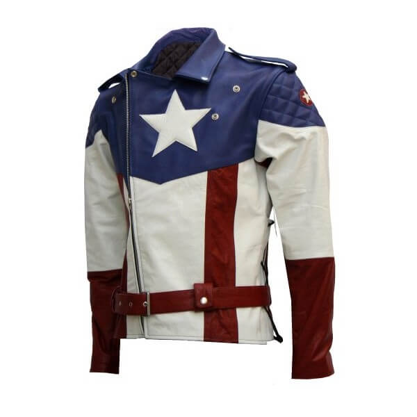 First Avengers Modified Captain America Leather Jacket