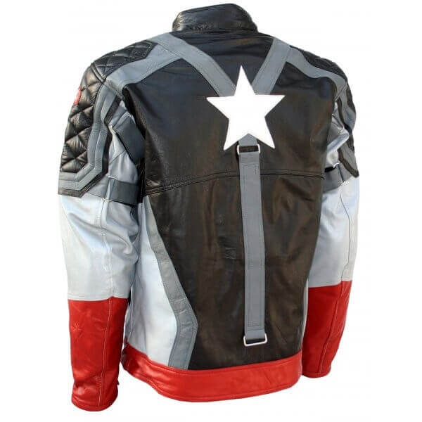 First Captain America Leather Jacket Black Version