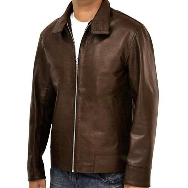 First Class X Men Brown Leather Jacket