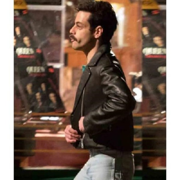Freddie Mercury Black Jacket in Leather from Bohemian Rhapsody