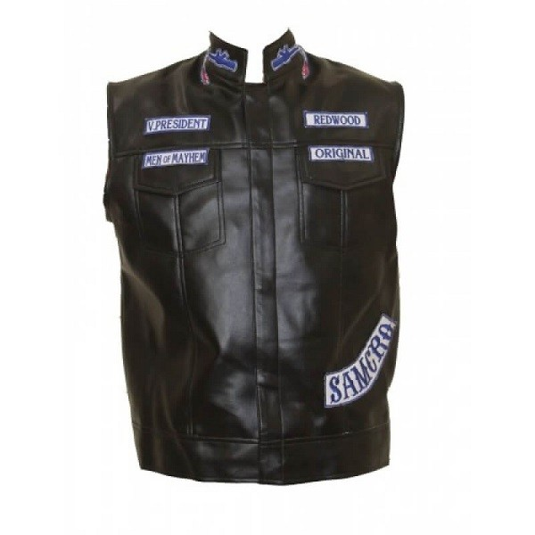 Genuine Leather Jax Teller Vest from Sons of Anarchy