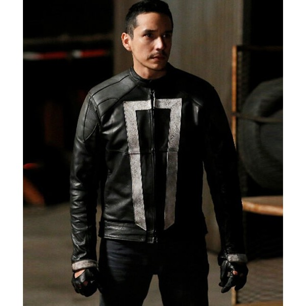 Ghost Rider Black Jacket Leather From Agents of Shield