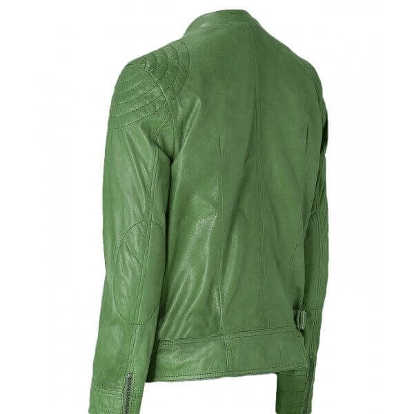 Green Bespoke Leather Jacket Men