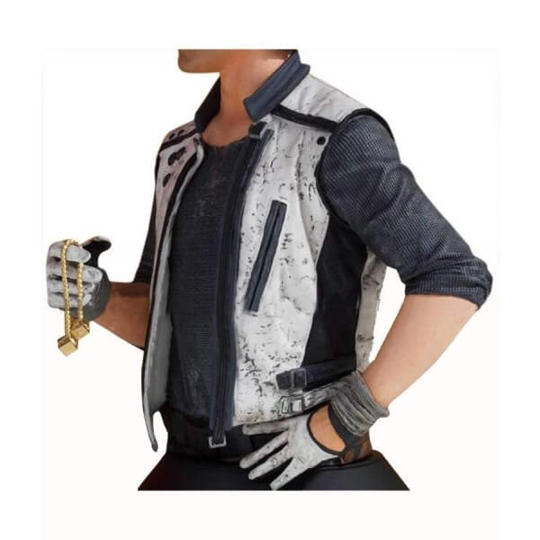 Han Solo Black & White Leather Vest From Star Wars