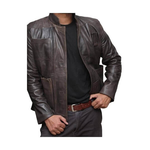 Han Solo Leather Jacket From Star Wars TV Series