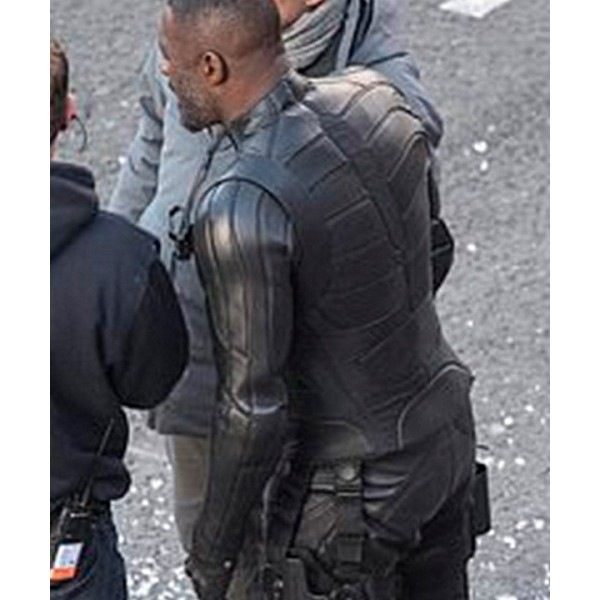 Idris Elba Black Leather Jacket from Fast & Furious: Hobbs & Shaw