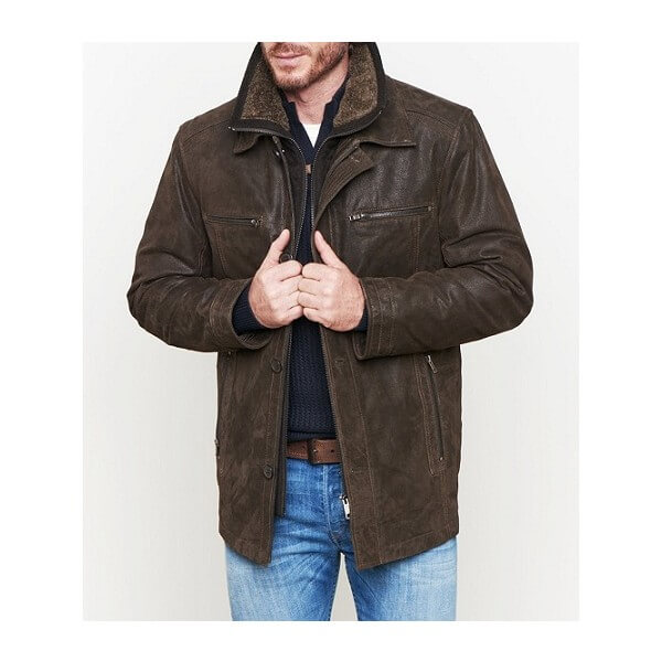 LC Insulated Brown Leather Jacket
