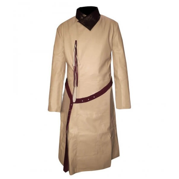 Jaime Lannister Coffee Cream Knee-length Leather Coat
