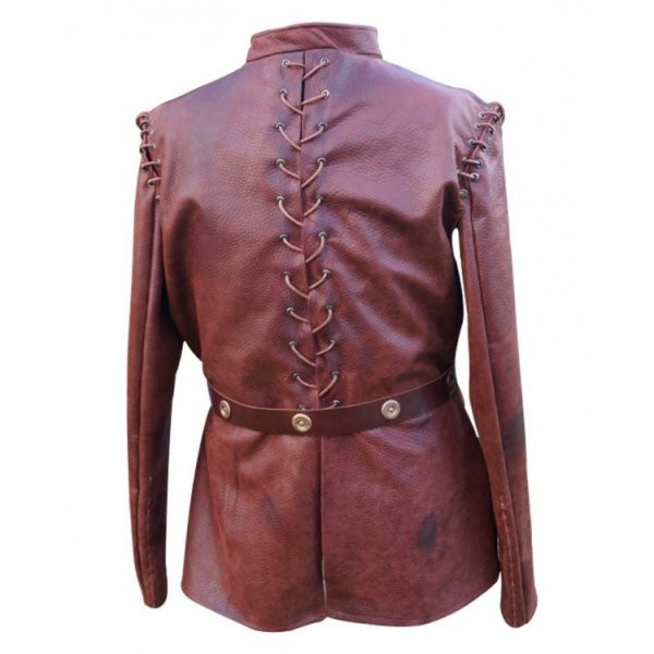 Jaime Lannister Threaded Detailing Leather Jacket from GoT