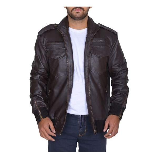 Jake Peralta Black and Brown Leather Jacket from Brooklyn nine nine