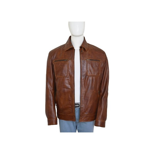 John Diggle Brown Leather Jacket from Arrow Season 4