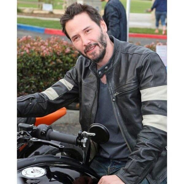 Keanu Reeves Black Cafe Racer Jacket from John Wick 2