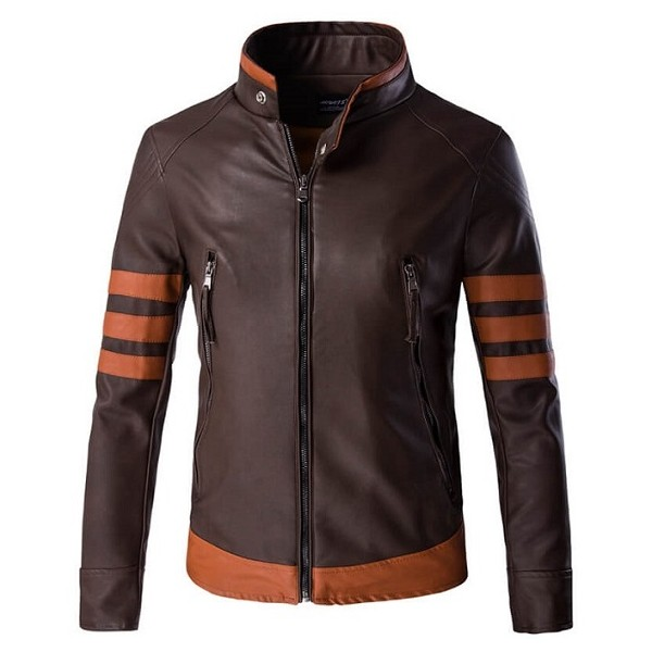 Logan Wolverine Patterned Brown Jacket from X Men United
