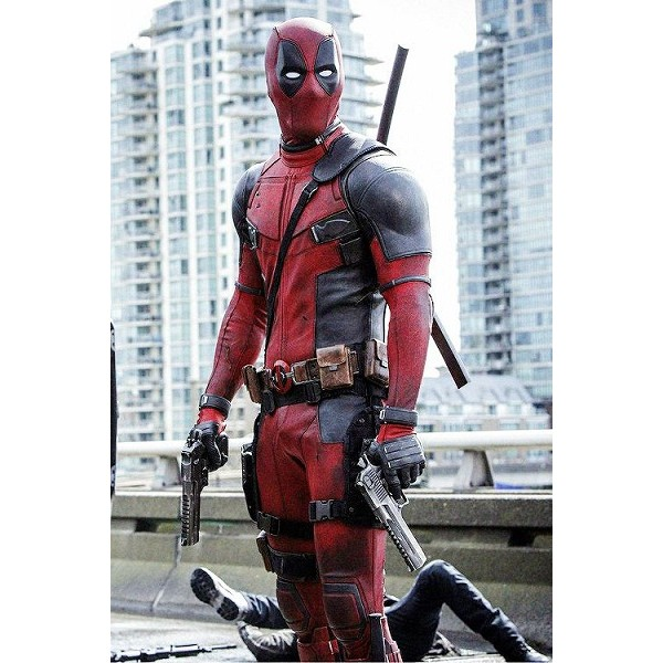 Maroon and Black Deadpool Costume Jacket