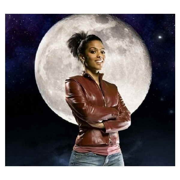 Martha Jones Leather Jacket in Brown from Doctor Who