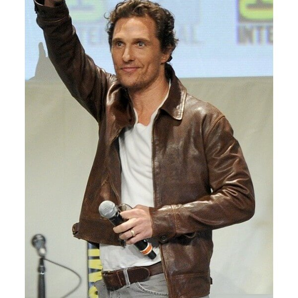 Matthew Mcconaughey Interstellar Brown Leather Jacket